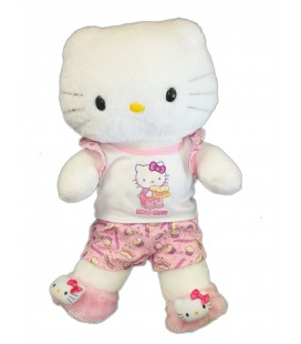 Doudou Grande peluche HELLO KITTY - rose sac à main - H 16 cm Licence