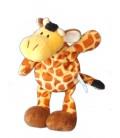 Doudou peluche Girafe jaune marron NICI - H 26 cm