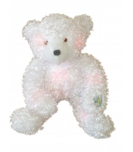 Peluche Ours Blanc Lumicalin - 40 cm - Giochi Preziosi 2005 Gloe Bear