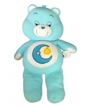 Grande peluche Bisounours Care Bears 2002 Grosdodo Bedtime Bear Lune étoile H 70 cm
