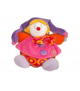 Doudou Peluche Gino Le Clown - MOULIN ROTY - Gd Mod. H 30 cm
