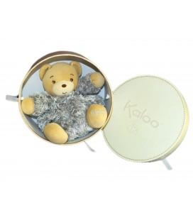 Doudou OURS boule gris beige Fourrure Fur KaLOO 16 cm