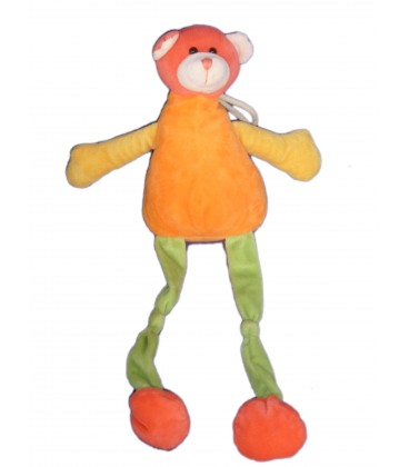 Doudou Peluche OURS orange - PLAYKIDS - CMI - H 43 cm Ref23100174