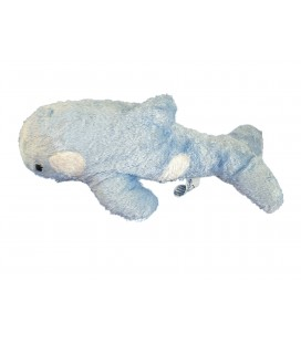 Peluche doudou DAUPHIN Bleu Marineland Dolphin Plush - L 38 cm