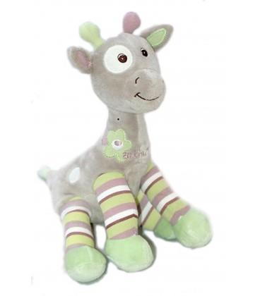 Doudou Girafe mauve et vert - ARTHUR ET LOLA - Bébisol