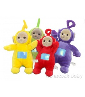 Lot peluches TeLETUBBIES Po Lala Tinky Winky Dipsy 38/40/45 Cm Tomy Licence BBc