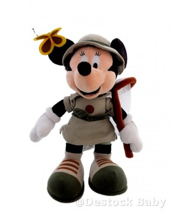 Peluche MINNIE MIckey - Chasse aux Papillons - Authentique Disneyland - 35 cm