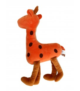 Grande peluche Doudou orange JACADI - Gd. Mod. H 60 cm
