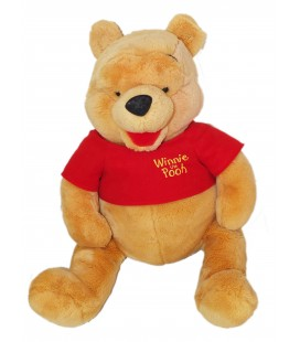 GRANDE PELUCHE XXL WINNIE L'OURSON EXTRA LARGE PLUSH THE POOH H 45/60 CM DISNEY