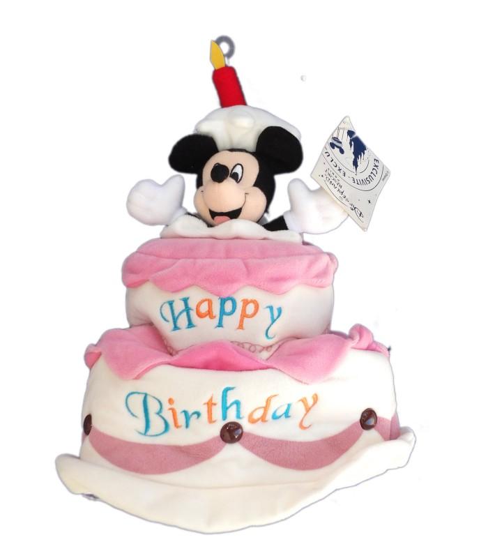 Collector peluche chapeau gateau anniversaire mickey authentique original disney h 32 cm - Gateau anniversaire disney ...