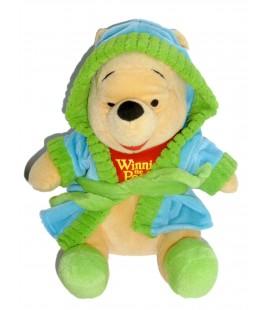 Doudou peluche WINNIE L'OURSON The Pooh Peignoir Vert Disney Nicotoy PTS SRL - H 30 cm