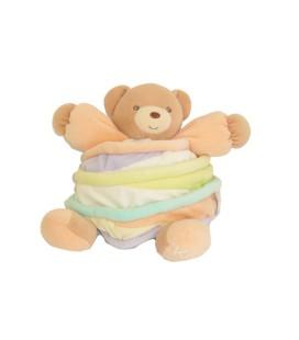 KALOO Doudou boule OURS Candy beige mauve spirales couleurs Pastels H 20 cm