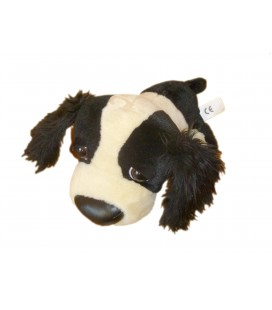 Peluche Doudou CHIEN noir beige Pug The Dog Project Artlist International L 26 cm