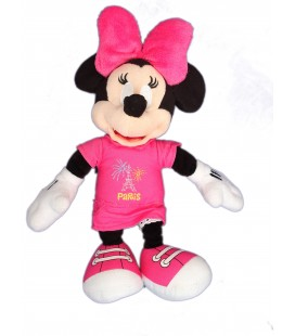 Doudou peluche MINNIE Disneyland Resort Paris Disney Store - Tour Eiffel - H 28 cm
