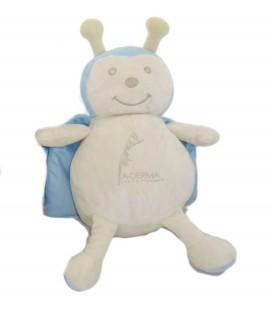 Peluche doudou Coccinelle beiges bleues a-DERMa avoine Rhealba H 30 cm