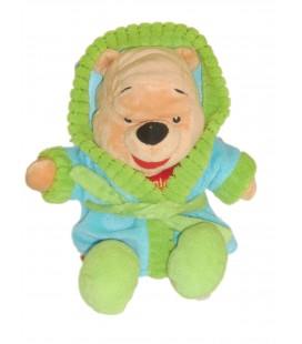 Doudou peluche WINNIE The Pooh Peignoir Bleu Vert Disney Nicotoy - H 28 cm