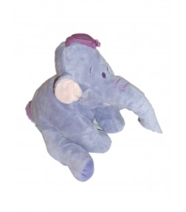 Doudou peluche LUMPY Efelant Elephant mauve Disney Nicotoy H 23 cm