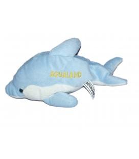 Peluche doudou DAUPHIN bleu blanc - AQUALAND- L 24 cm