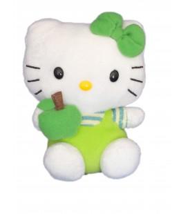 Peluche doudou HELLO KITTY - Pomme Verte - TY - Licence Sanrio Jemini - H 15 cm
