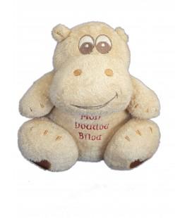 Doudou HIPPOPOTAME beige ORCHESTRA - Mon Doudou Bilou - H 18 cm