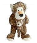 NEUF ETIQU. Peluche Géante Tigre marron et son bébé Max & Sax 1 m 100 cm