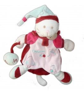 DOUDOU ET COMPAGNIE Marionnette chat Mario Catchou rose rouge