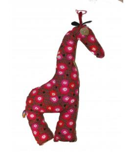 Peluche doudou Girafe déco en tissu - BRODI BRODA - H 36 cm