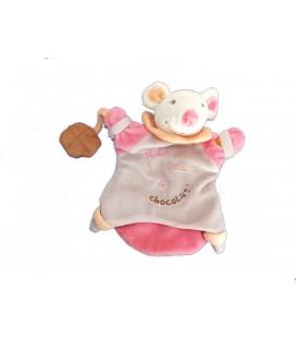 Doudou Marionnette SOURIS grise rose - Nala Adore le Chocolat - BABY NAT