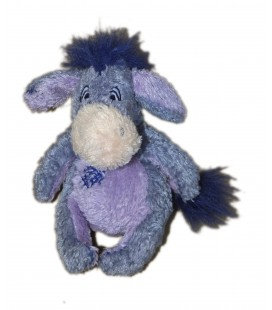 Doudou peluche BOURRIQUET - Carré griffure rectangle Zig zag Bleu mauve H 18 cm Disney Nicotoy