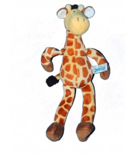 Doudou peluche Girafe jaune marron NICI - H 28 cm