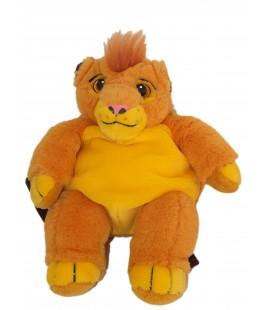 VINTAGE - SAC A DOS Peluche LE ROI LION - Disney Jemini - H 40 cm