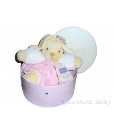 Doudou Lapin rose KaLOO Plume - Pink Rabbit - 27 cm