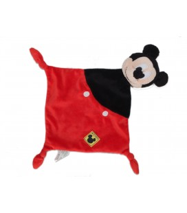 Doudou plat - MICKEY - Noir rouge - Disney Simba Dickie - 3 noeuds