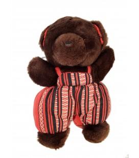 Peluche OURS brun marron Salopette - NOUNOURS - 25 cm