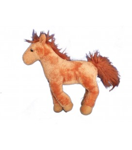 Doudou peluche CHEVAL marron - MAXITA - H 24 cm