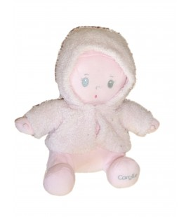 Poupée tissu Manteau rose - COROLLE - H 28 cm