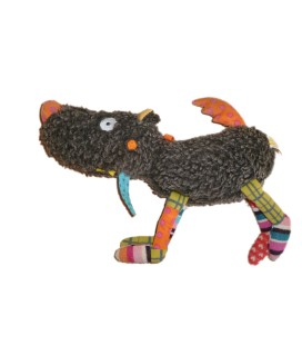 Doudou Peluche chien Loup Ebulobo Grelot 26 cm