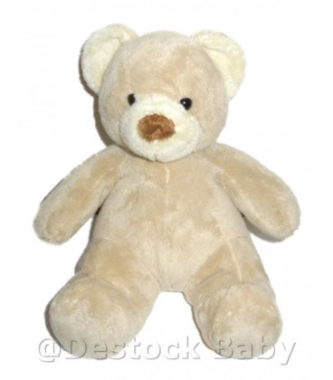 Doudou peluche OURS beige ANIMAL ALLEY Toys 'r us Idem Nicotoy 25 cm