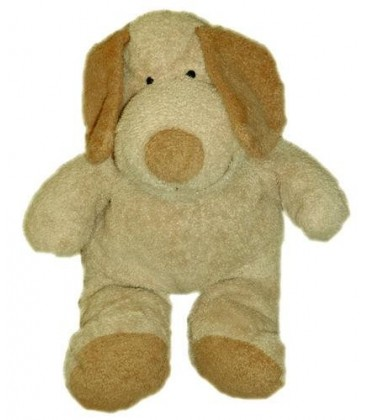 Doudou peluche chien beige marron clair Kiabi Nicotoy The Baby Collection 20/30 cm