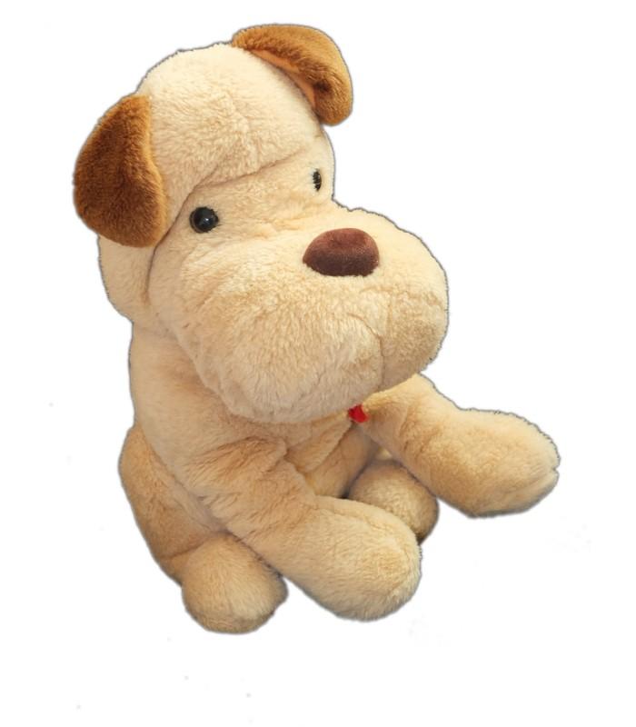 vintage peluche chien beige marron jemini h 34 cm. Black Bedroom Furniture Sets. Home Design Ideas