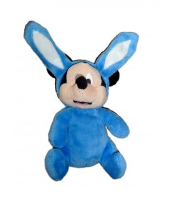 Doudou MICKEY bleu déguisé en lapin - 22 cm - DISNEY Nicotoy - In easter Bunny Beanbag