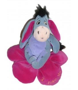 Peluche doudou Bourriquet Coeur I Love You Disney Nicotoy H 18 cm
