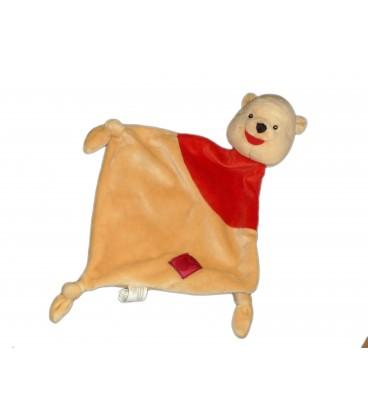 Doudou plat Winnie Losage 3 noeuds - Carré rouge Simba Dickie Adva 587/9978 19994