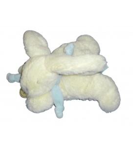 DOUDOU ET COMPAGNIE Lapin blanc bleu Bonbon 18 cm