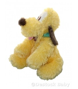 Doudou peluche PLUTO 40 cm Longs poils Authentique Disneyland Resort