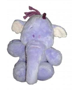 Doudou peluche Floppy LUMPY L'Efelant Elephant mauve Disney Nicotoy Simba Dickie H 22 / 28 cm