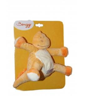 Doudou Peluche DRAGON Dinosaure orange - Bengy Amtoys - H 20 cm