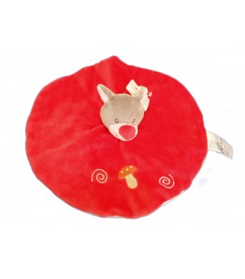 Doudou plat ours Renard Faon Biche rouge rose Champignon KITCHOUN Kiabi Jogystar