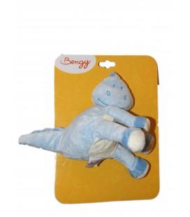 Doudou Peluche DRAGON Dinosaure bleu - Bengy Amtoys - H 20 cm