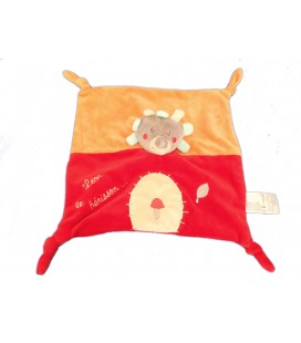 Doudou Léon HERISSON rouge orange Champignon KITCHOUN Kiabi Jogystar
